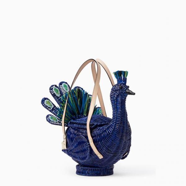 ケイト・スペードから「孔雀」モチーフのバッグや小物、モロッコのガーデンをイメージした深いブルー色