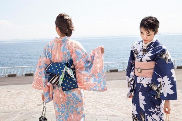 大塚呉服店 夏に向けた新作浴衣&帯を展開、幾何学×古典柄のデザイン