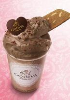 ゴディバの新作デザートドリンク「ムースショコラ ミルクチョコレート/カフェ ワッフル」限定発売