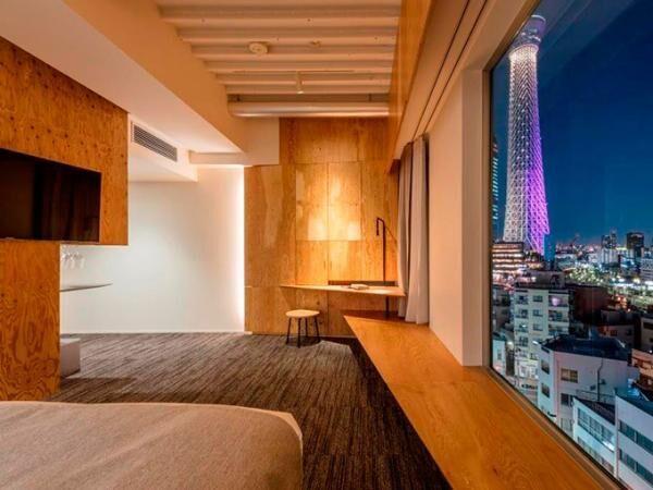 隈研吾デザイン監修のホテル「ONE@Tokyo」東京・押上の東京スカイツリー近くにオープン