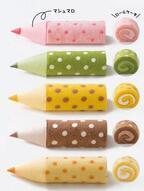 """""""色鉛筆""""のようなマシュマロと食べるロールケーキ 「色えんぴつろーる」大阪新阪急ホテルに登場"""