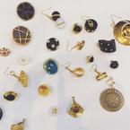 アカネ ウツノミヤの限定ジュエリーコレクション、ヴィンテージボタンをリメイクしたピアス