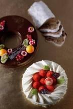 横浜ベイシェラトンのクリスマスケーキ - マスカルポーネとリンゴを挟んだ純白ケーキ