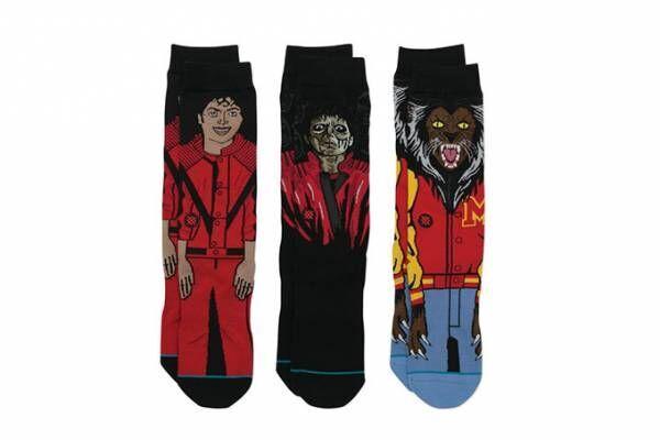 マイケル・ジャクソン「スリラー」の靴下、ゾンビマイケルや狼男をデザイン - 米ソックス・スタンスから