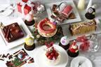 リースをイメージしたケーキ&オーナメント型チョコ、インターコンチネンタル 東京ベイから