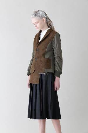 スナオクワハラ 17年秋冬の新作、職人が1枚ずつプリントしたスカートや上質ウールのワンピース