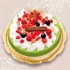 祇園辻利から、濃厚抹茶&バニラの2層アイスでつくるクリスマスケーキ