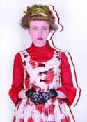 エミリーテンプルキュート 17年冬の新作 - 舞うようなローズプリントのギャザーワンピース
