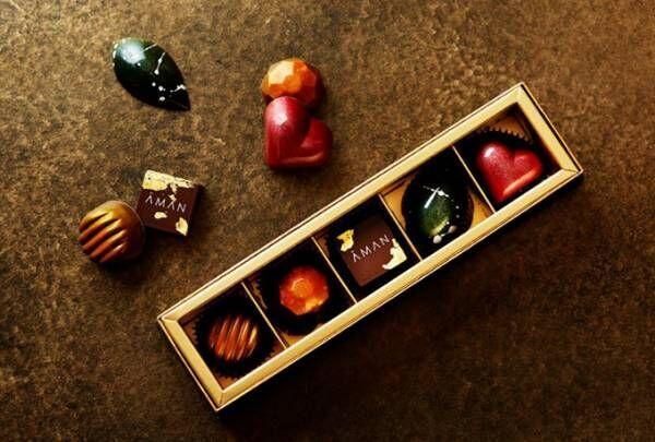 アマン東京のバレンタインチョコ -「柚子と抹茶」「ライムとほうじ茶」など果実×茶葉のユニークな味わい