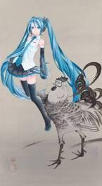 琳派×漫画・アニメキャラの展覧会が新宿髙島屋で - 初音ミクやブラック・ジャックが日本画の中に