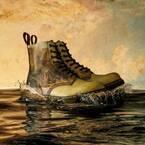 """ドクターマーチン×テート・ブリテン、""""光の画家""""ターナーによる風景画が8ホールブーツに"""