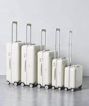 ユナイテッドアローズ別注「リモワ サルサ ECRU」生成り色のスーツケース、内装は飛行機柄