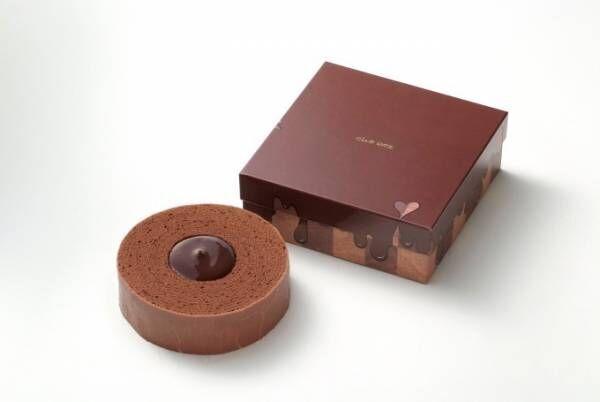 クラブハリエの「チョコバーム」、温めると中央のチョコが溶け出すバームクーヘン