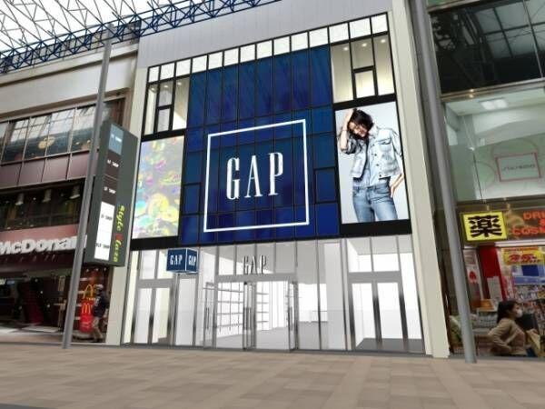 GAP関西最大店が神戸三宮センター街にオープン、関西最大級の売り場面積と品揃え