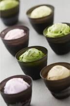 抹茶の濃さを選べるジェラートのななや、京都に関西初の直営店 - 京野菜の限定パウンドケーキも