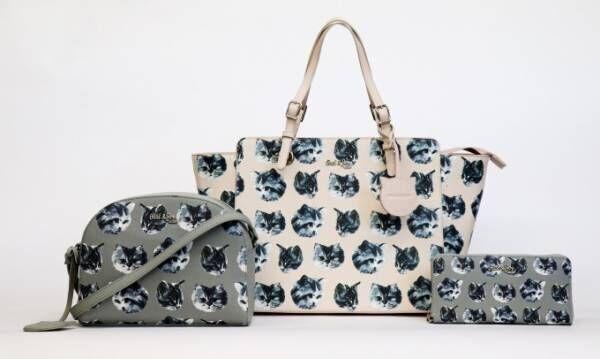 ポール & ジョー シスター「ネコ」モチーフの新作バッグ、全面にフェイスプリント