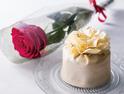 チョコ細工の花が咲くバレンタイン&ホワイトデー限定ケーキ、ホテル阪急インターナショナルで