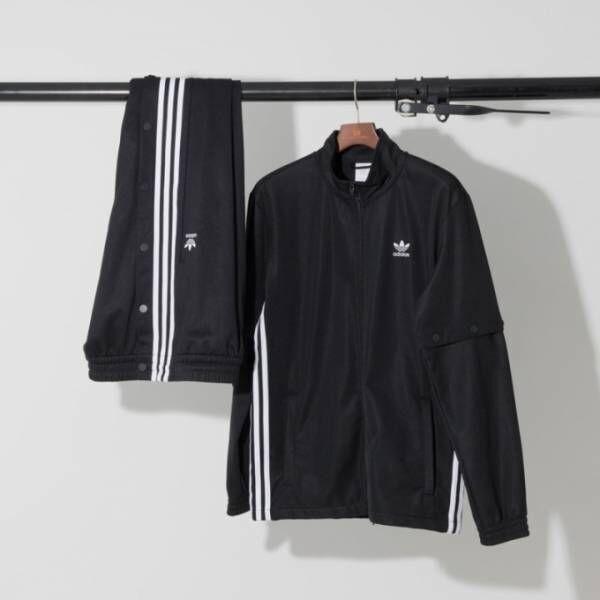 """アディダス オリジナルスから日本限定トラックスーツ、裾の""""スナップボタン""""でシルエットを自由自在に"""
