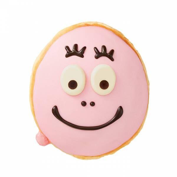 クリスピー・クリーム・ドーナツ×バーバパパ - ストロベリーチョコで作ったピンクの顔のドーナツ