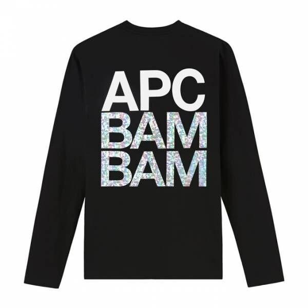 """A.P.C.からホログラムTシャツ、ミラーボールのように輝く""""BAM BAM""""の文字"""