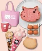 ネコ型の食パンや焼き菓子をセットにした「ももいろねこセット」大阪新阪急ホテルから発売