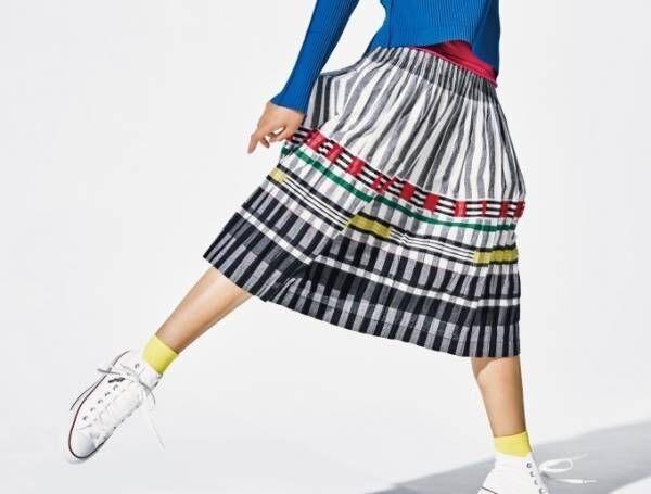 ミー イッセイ ミヤケの2018年春夏新作 - ストライプジャカードのスカートや斜めプリーツシャツ