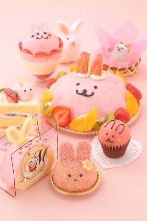イースターモチーフのスイーツが大阪・大丸梅田店に集結 - うさぎ型のケーキやパフェ、大福など