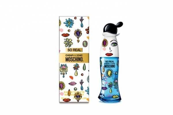 モスキーノ チープ&シックの新フレグランス、宝石柄の青いドレスのボトル×オリエンタルな香り
