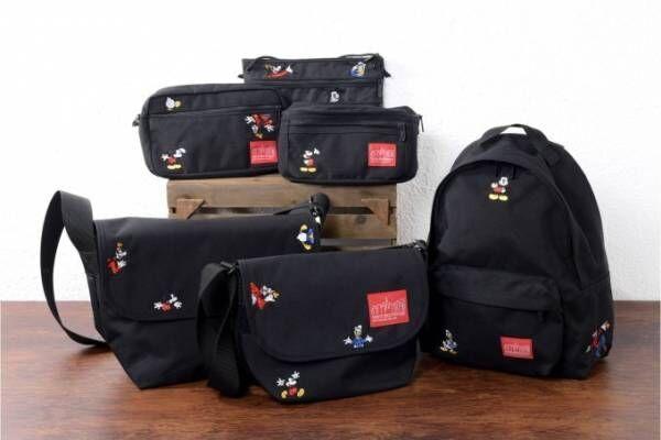 マンハッタン ポーテージの新作バッグ、ミッキーやドナルドをカラフルな刺繍で表現