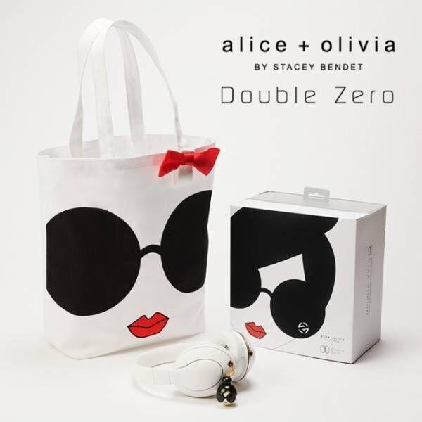 アリス アンド オリビア×Double Zero限定ヘッドフォン、バッグ&イヤホンジャック付き