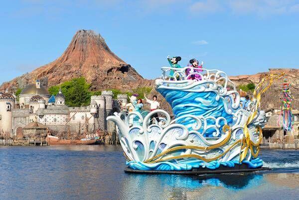 東京ディズニーリゾート「ディズニー七夕デイズ」彦星と織姫のミッキーマウス&ミニーマウスがパレードに