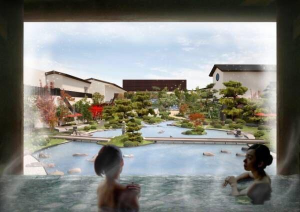 「空庭温泉」関西最大級温泉型テーマパークが大阪ベイエリアにオープン、安土桃山時代がコンセプト