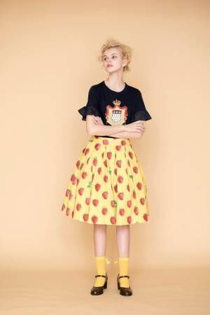 ジェーンマープル新作 - ストロベリーモチーフのワンピースやドレス、スカートなど