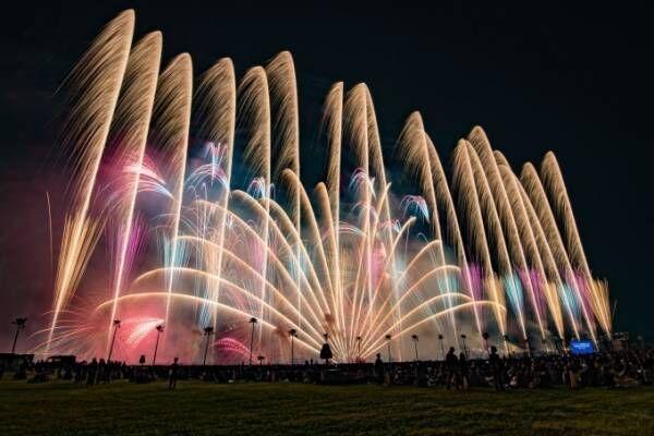 「海の中道芸術花火2018」福岡・海の中道海浜公園で - 花火師×プログラマーによる音楽シンクロ花火