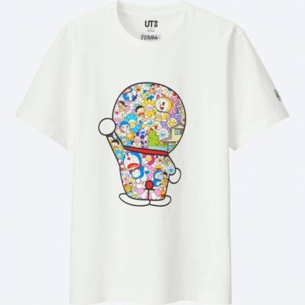 """ユニクロより「ドラえもんUT」村上隆コラボ""""お花""""を描いたカラフルなTシャツやぬいぐるみなど"""