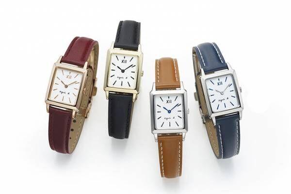 アニエスベー ウオッチの新作 - フレンチスタイルの角型7機種、スワロをあしらった限定モデルも