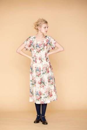 ジェーンマープルドンルサロン春の新作、クラシカルな花々のワンピースやカーディガンなど