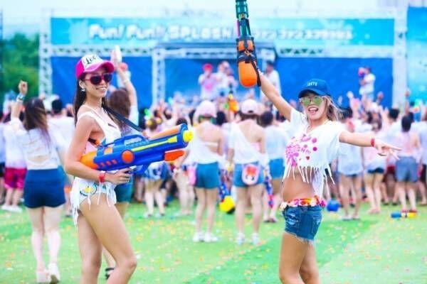 """日本最大級""""水かけ祭り""""「ファンファンスプラッシュ2018」お台場で、ずぶ濡れ必須の真剣勝負も"""