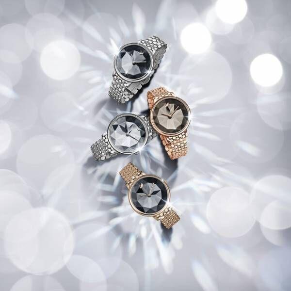 """スワロフスキー・ウォッチ2018年秋冬の新作時計、""""湖面""""のように輝くクリスタルの文字盤"""