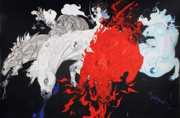「天野喜孝展 天馬」ファイナルファンタジーで描いた馬のイラストなど展示、馬の博物館&JRA競馬博物館