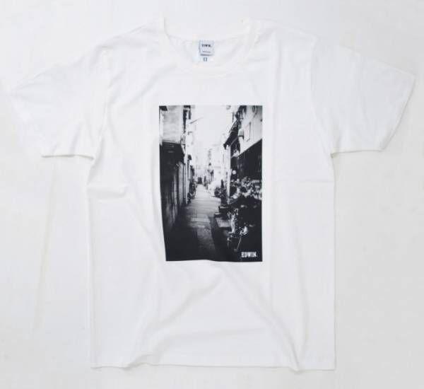 エドウイン、創業地・日暮里の街並みを映した100枚限定のフォトTシャツ発売