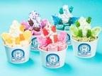 ロールアイス専門店「ロール アイス クリーム ファクトリー」レインボーカラーの限定メニュー