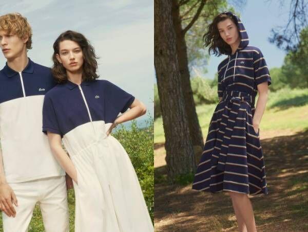 ラコステから夏色カラーポロシャツ&初挑戦ひざ下フレアスカートのポロドレス
