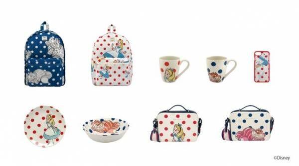 キャス キッドソン×ディズニー『ふしぎの国のアリス』コラボ、アリスやチェシャ猫を描いたバッグ