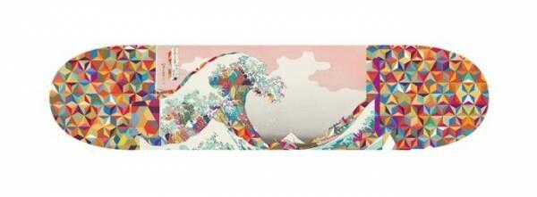 銀座蔦屋書店で「ネオ北斎」、浮世絵『富嶽三十六景』をサイケデリックにアレンジしたバッグなど