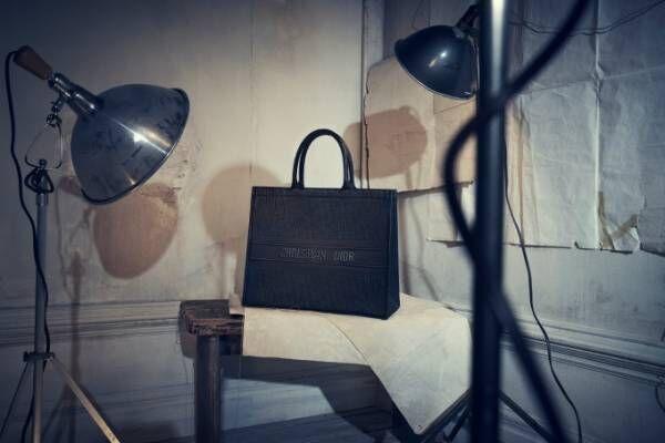 ディオール18年フォール コレクション新作、赤いハートを刺繍した「レディ ディオール」バッグなど