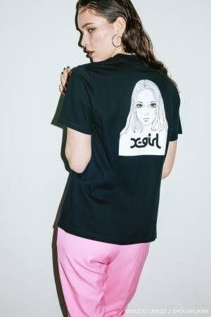 X-girl×楳図かずおのコラボTシャツ、漫画『おろち』風の女の子イラストをプリント