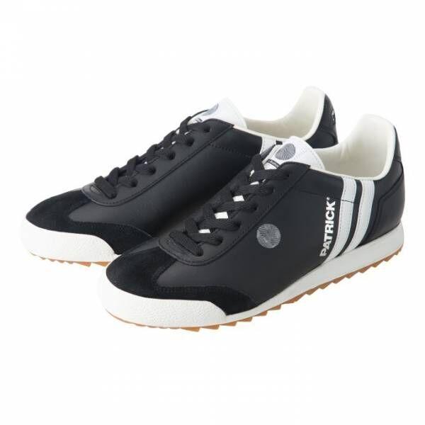 パトリックの新作スニーカー、パリのフットボールリーグとコラボした黒のフットボールシューズ