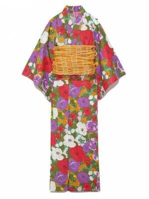 """リリー ブラウンから""""フラワー柄""""の夏浴衣、カラフル花柄でレトロモダンに"""