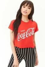 フォーエバー21×コカ・コーラ限定コラボアイテム発売、ロゴ描かれたTシャツやウエストポーチなど